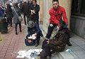 """Раненые возле станции метро """"Мальбек"""" в Брюсселе, Бельгия. 22 марта 2016"""
