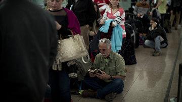 Обстановка в аэропорту Барселоны, Испания