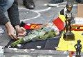 Акция памяти о жертвах терактов в центре Брюсселя, Бельгия