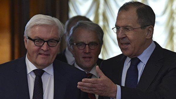Встреча глав МИД России и Германии Сергея Лаврова и Франка-Вальтера Штайнмайера. 23 марта 2016