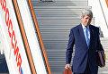"""Государственный секретарь США Джон Керри в аэропорту """"Внуково-2"""" во время рабочего визита в Москву"""