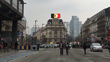 На улицах Брюсселя. 24 марта 2016. Архивное фото