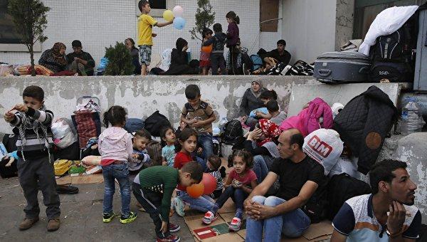 Мигранты с Ближнего Востока. Архивное фото