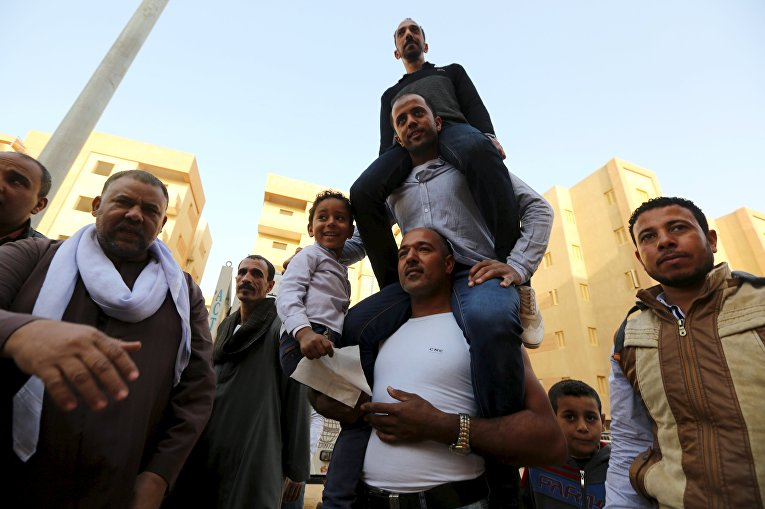 Египетский силач Карим Хусейн по прозвищу Фараон в Каире