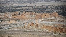 Освобожденная от боевиков древняя часть Пальмиры. Архивное фото