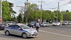 Движение на улицах Севастополя, Крым. Архивное фото