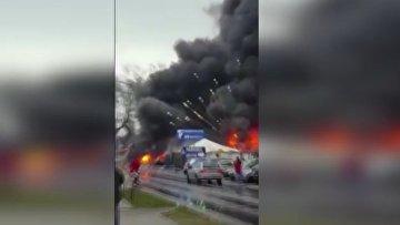 Взрыв на рынке в Польше