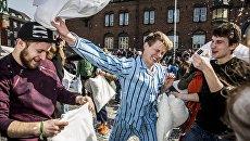 Международный день боёв подушками в Дании