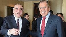 Министр иностранных дел Азербайджана Эльмар Мамедьяров и министр иностранных дел РФ Сергей Лавров. Архивное фото