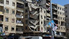 В районе Салах-ад-дин в Алеппо. Архивное фото