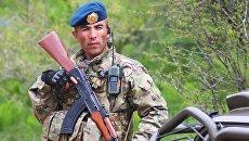Военнослужащий армии Таджикистана. Архивное фото