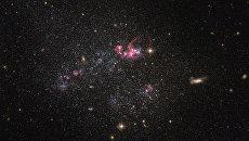 Карликовая галактика, снятая телескопом Хаббл