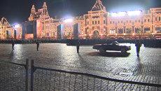 Ночная репетиция парада Победы в Москве. Кадры с Красной площади
