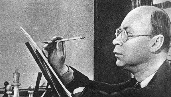 Композитор Сергей Прокофьев. 1948 год