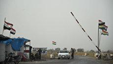 КПП на въезде в один из лагерей Рабочей партии Курдистана в горах Кандиль на севере Ирака. Архивное фото