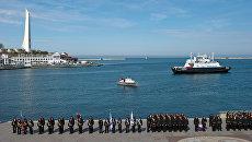 Военнослужащие ЧФ России на торжественном построении в Севастополе. Архивное фото