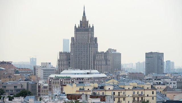 Здание министерства иностранных дел Российской Федерации на Смоленской площади в Москве. Архивное фото