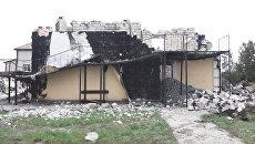 Кадры с места пожара в доме престарелых под Киевом, где погибли 17 человек