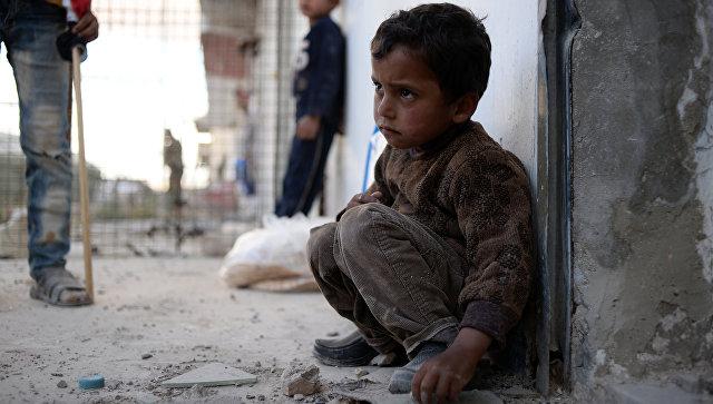 Жители населенного пункта Каукаб в Сирии. Архивное фото