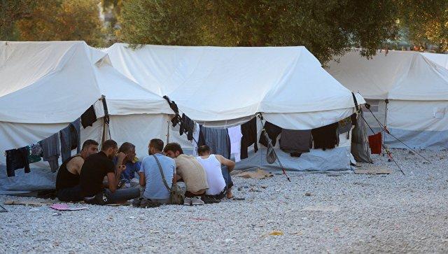 Беженцы на острове Лесбос в Греции. Архивное