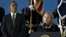 Барак Обама и  Хиллари Клинтон. Архивное фото