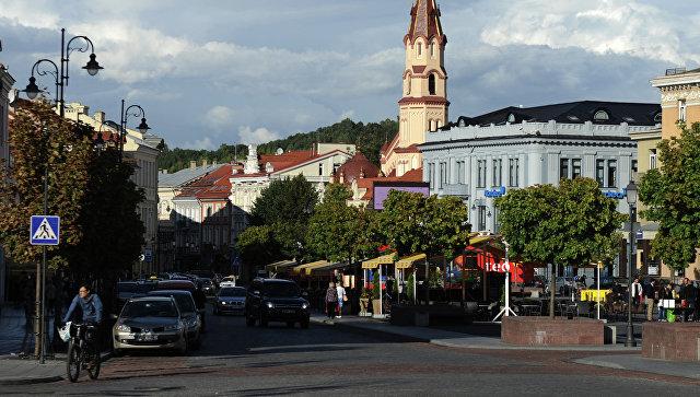 На одной из улиц Вильнюса, Литва. Архивное фото