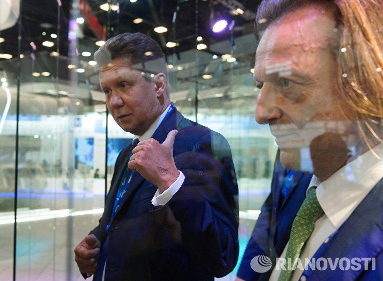 Председатель правления, заместитель председателя совета директоров ПАО Газпром Алексей Миллер на XX Петербургском международном экономическом форуме.