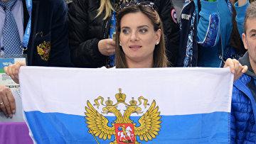 Il due volte campione olimpico nel salto con l'asta Yelena Isinbayeva.  foto d'archivio