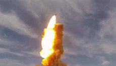 Кадры пуска противоракеты российской ПРО с полигона Сары-Шаган в Казахстане