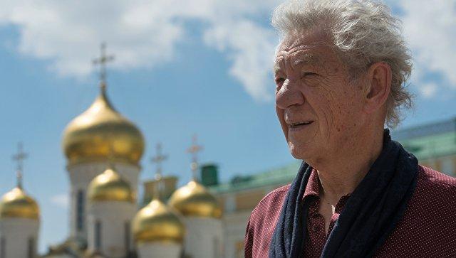Британский актер сэр Иэн Маккеллен посетил Москву. Архивное