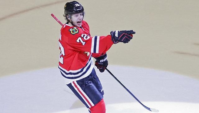 Житель америки впервый раз вистории НХЛ забросил 4 шайбы вдебютной игре