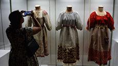 Открытие выставки Праздничная одежда народов России
