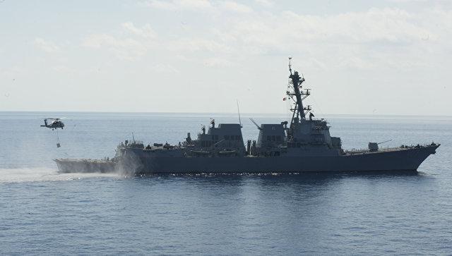 Американский эсминец. Архивное фото