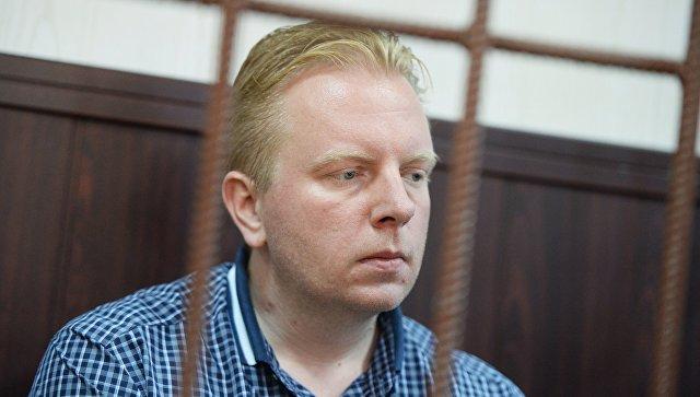 Генеральный директор Российского авторского общества Сергей Федотов в Таганском суде Москвы