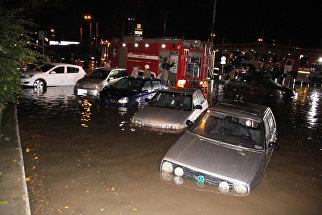 Последствия сильного ливня в Ростове-на-Дону