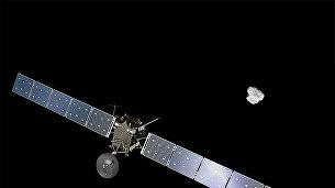 Так художник представил себе Розетту, прибывающую к комете 67Р