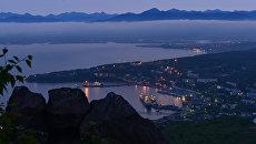 Вид Петропавловска-Камчатского с Мишенной горы. Архивное фото