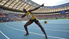 Ямайский спортсмен Усэйн Болт. Архивное фото