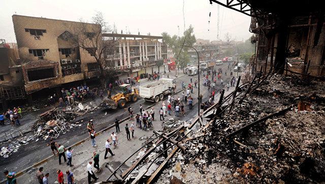 Последствия террористического акта в Багдаде. 3 июля 2016