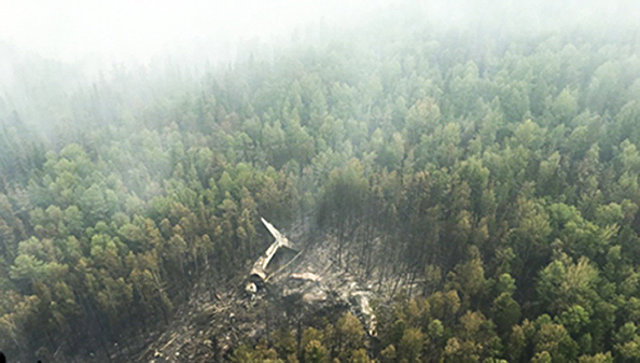 Место крушения самолета Ил-76 МЧС России в Иркутской области