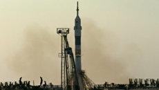 Кадры старта ракеты-носителя с первым кораблем новой серии Союз МС