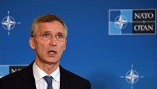 Генеральный секретарь НАТО Йенс Столтенберг во время саммита НАТО в Варшаве. Архивное фото