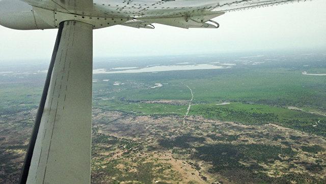 Вид с воздуха на Южный Судан