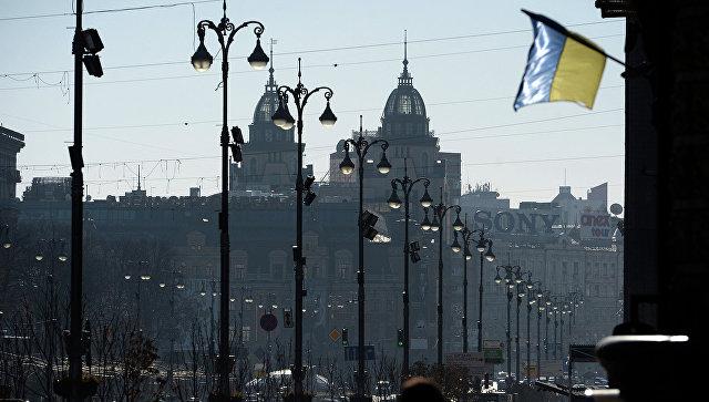 Вид на улицу Крещатик в Киеве, Украина. Архивное фото