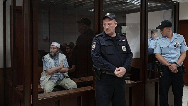 Настоятель московской мечети Ярдям, шейх Махмуд Велитов в Бутырском суде Москвы. Архивное фото