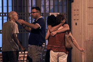 Родственники жертв атаки в Ницце. 15 июля 2016