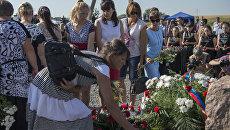 Траурные мероприятия в годовщину крушения самолёта Boeing 777 под Донецком. 15 июля 2016