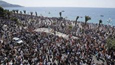 Минута молчания на Английской набережной Ниццы