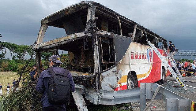 Пожар вавтобусе наТайване устроил смертник— Следователи