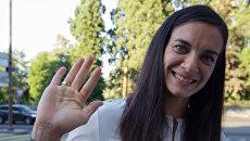 Елена Исинбаева после заседания Спортивного арбитражного суда в Женеве. Архивное фото